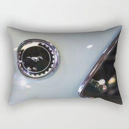 Vintage Ford  Mustang logo on car Rectangular Pillow