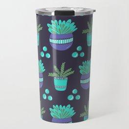 Potted Plants Pattern Travel Mug