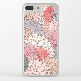 Hydrangea Haven - Muted Colors Clear iPhone Case