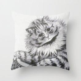 Louis Wain - Cat Portrait Throw Pillow