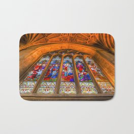 Stained Glass Abbey Window Bath Mat