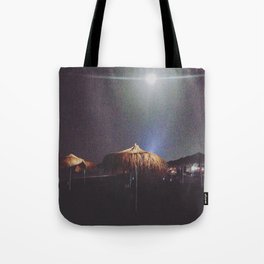 UFOS ON THE BEACH Tote Bag