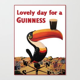 Advertising Vintage Poster - Lovely Day for a Guinness - Beer - Drinks Advertising Vintage Poster Canvas Print