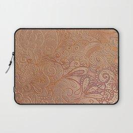 Floral copper Laptop Sleeve