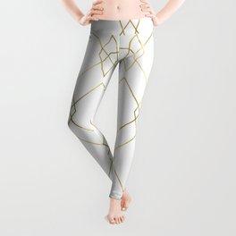 Gold Geometric Leggings