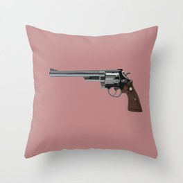 Dirty Harry's Magnum Throw Pillow
