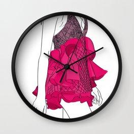 Pink dress Wall Clock