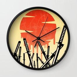 Katana Junkyard Wall Clock