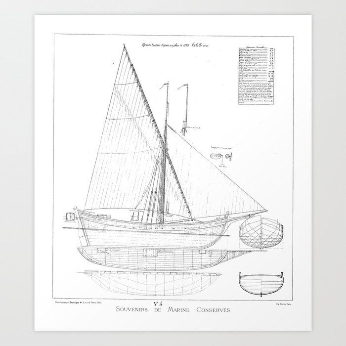 Vintage black white sailboat blueprint drawing antique nautical vintage black white sailboat blueprint drawing antique nautical beach or lake house preppy decor art malvernweather