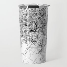 Copenhagen White Map Travel Mug