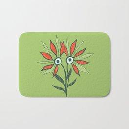 Cute Eyes Flower Monster Bath Mat
