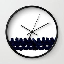 Screw Indigo Abstract Art Wall Clock