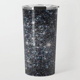 Stars : subtle black blue gold Travel Mug