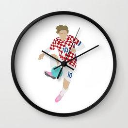 Luka Modric Croatia Print Wall Clock