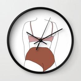 Figure line drawing illustration - Elisha Wall Clock