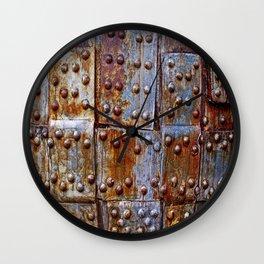 Rusty iron armour Wall Clock