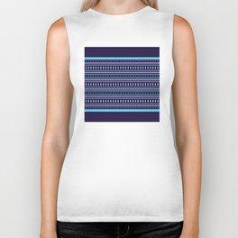 Stripes Pattern #206 (navy blue) Biker Tank