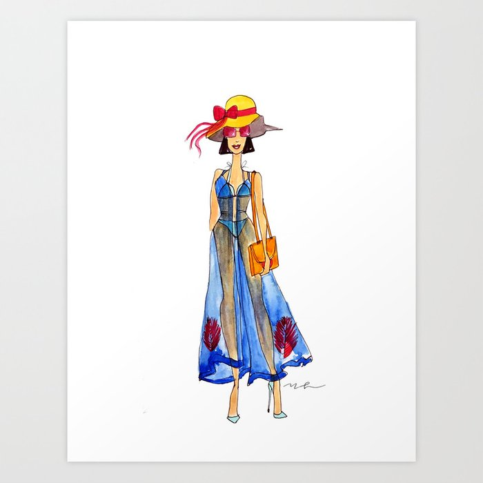 LIVE COLORFULLY Art Print