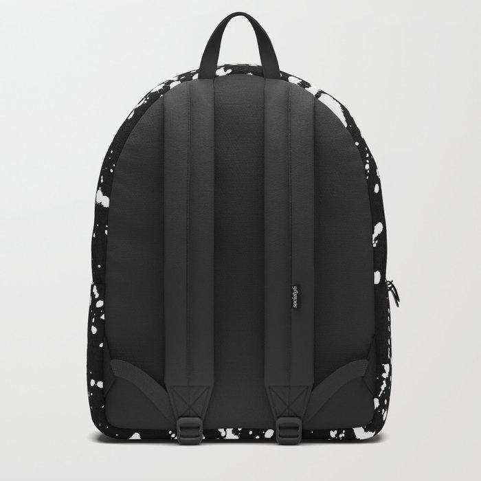 Splat Black Backpack