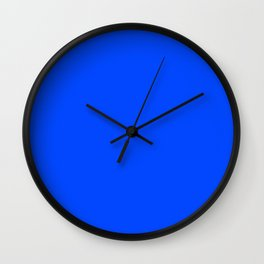 Blue (RYB) - solid color Wall Clock