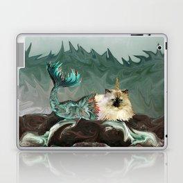 Behold the Mythical Merkitticorn - Mermaid Kitty Cat Unicorn Laptop & iPad Skin