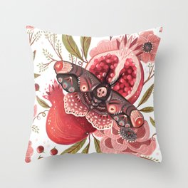 Moth Wings II Throw Pillow