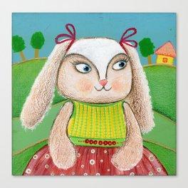 Ballerina Bunny Girl  Canvas Print