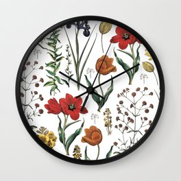 ramdom flowers Wall Clock