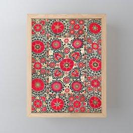 Shakhrisyabz Suzani Uzbek Embroidery Print Framed Mini Art Print