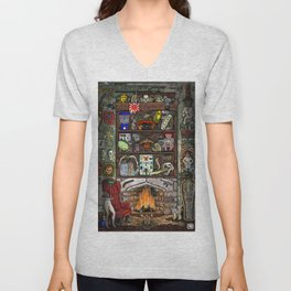 Creepy Cabinet of Curiosities Unisex V-Neck