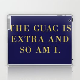 The Guac Is Extra-Navy | Guacamole | Sassy | Digital Typography Laptop & iPad Skin