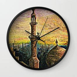 mosque at dawn Wall Clock