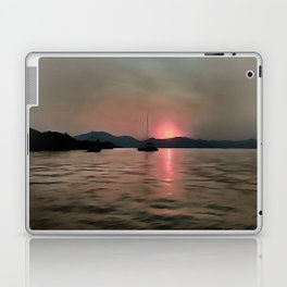 Sunset Shores In Pink And Grey Laptop & iPad Skin