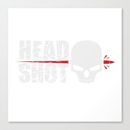 Headshot white Canvas Print