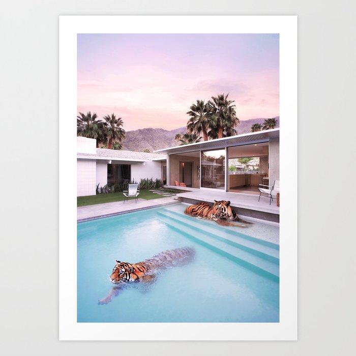 Palm Springs Tigers Kunstdrucke