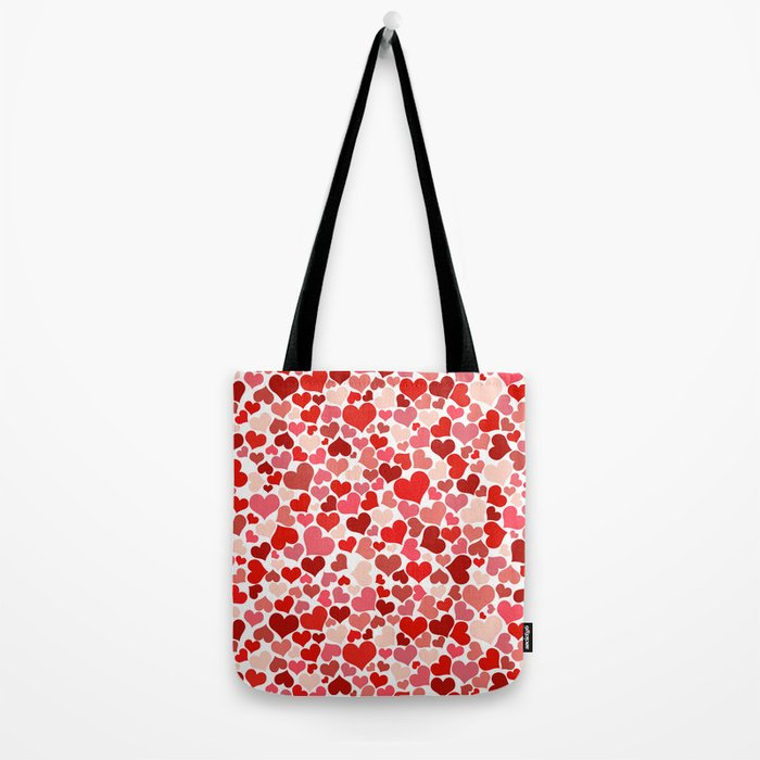 Hearts Collage Tote Bag