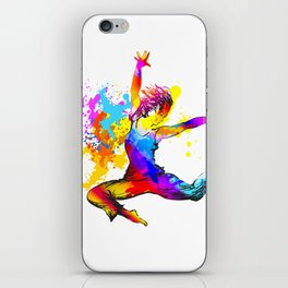 Hip hop dancer jumping iPhone Skin
