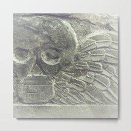 Skull Graveyard Salem, MA Haunted Metal Print