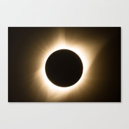 Totality - 2017 Total Solar Eclipse with Golden Corona Canvas Print