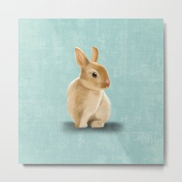 Portrait of a little bunny Metal Print