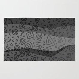 ETHNO PATTERN Modern | grey Rug