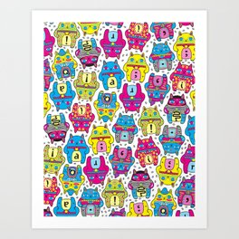 CatCat For Ever Art Print