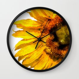 Simply a sunflower Wall Clock