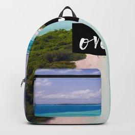 Maldives... over it. Backpack