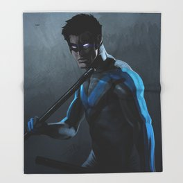 Nightwing Throw Blanket