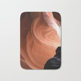 Antelope Canyon Reddish And Blue Tones Bath Mat
