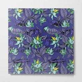 The Sea Garden - deep blue Metal Print