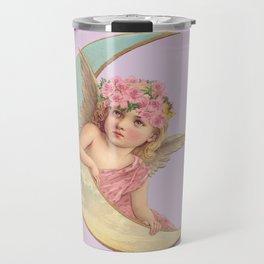 Victorian Moon Angel Travel Mug