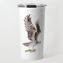 Osprey and Rainbow Trout Travel Mug