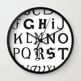 Cemetery Alphabet Wall Clock